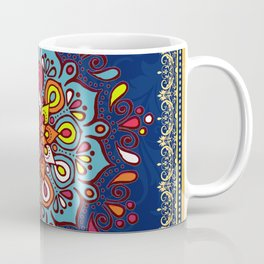 V10 Moroccan Art Traditional Floral Design Coffee Mug