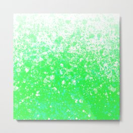 Green Ombre Metal Print
