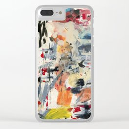 good luck, shallow sky Clear iPhone Case