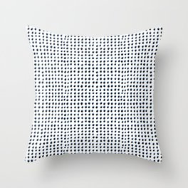 Dots (Shadowed) - Black x Blue Throw Pillow
