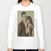 allyson johnson Long Sleeve T-shirts featuring JAMIE DORNAN - DAKOTA JOHNSON by Virginieferreux