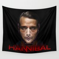 hannibal Wall Tapestries featuring Hannibal Masked by 666HUGHES