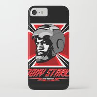 tony stark iPhone & iPod Cases featuring Tony Stark by Ant Atomic