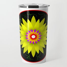 Flower Design Travel Mug