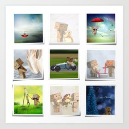 A life with Danbo Art Print