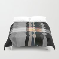 grunge Duvet Covers featuring Grunge E5 by thinschi