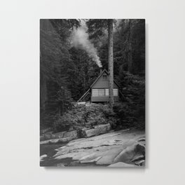 Cabin Smoke Metal Print