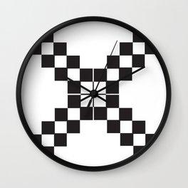 Checkerboard X Wall Clock