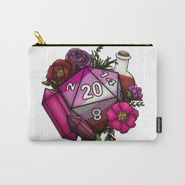 Pride Lesbian D20 Tabletop RPG Gaming Dice Carry-All Pouch