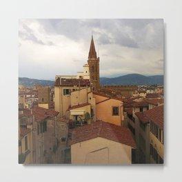 Florence Rooftops Metal Print