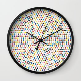 Colorful Explosion of Dots Wall Clock
