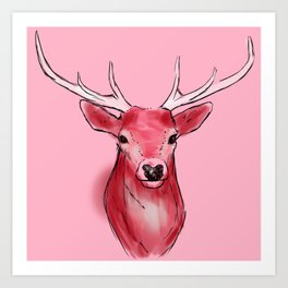 White Horns Art Print