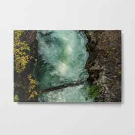 Swirling River -- Run off from Crater Lake (Oregon) Metal Print