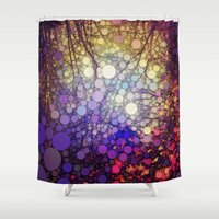 woodland Shower Curtains featuring Woodland Abstract by Olivia Joy StClaire
