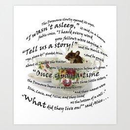 Dormouse from Alice in Wonderland Art Print