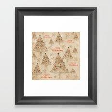 Vintage Merry Christmas Framed Art Print