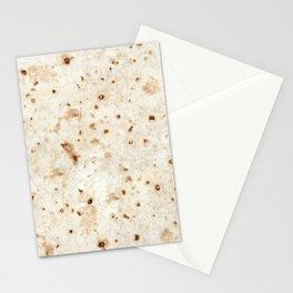 snackbreak; taco burrito flour tortilla  Stationery Cards