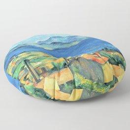 Paul Cézanne - Baie de Marseille, vue de l'Estaque -The Bay of Marseilles, Seen from L'Estaque Floor Pillow