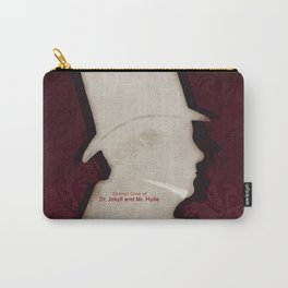 Robert Louis Stevenson, Dr. Jekyll and Mr. Hyde - Minimalist Literary Design Carry-All Pouch