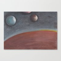 constellation Canvas Prints featuring constellation by karogfineart