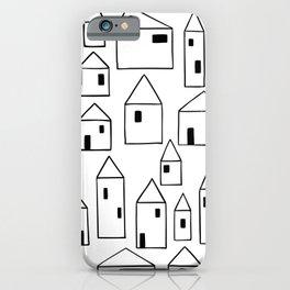 Minimalist Houses Larger Pattern iPhone Case