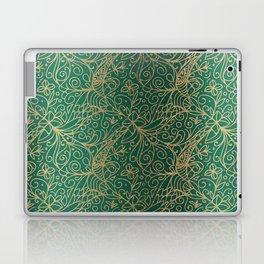 Gold and Green Tangle Pattern Laptop & iPad Skin