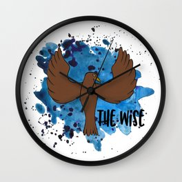 The Wise Raven Wall Clock