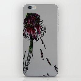 Drooping flower iPhone Skin