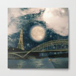 One Starry Night in Paris Metal Print