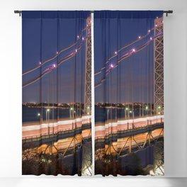 Famous George Washington Bridge Hudson River New York City USA Nightlife Ultra HD Blackout Curtain