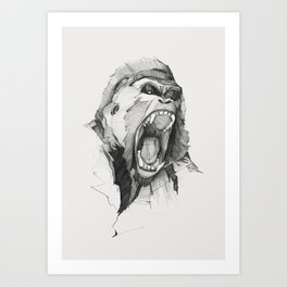 Seven Monkeys – Wrath – Wild Rage Art Print