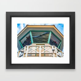 Surf City Reflects  Framed Art Print