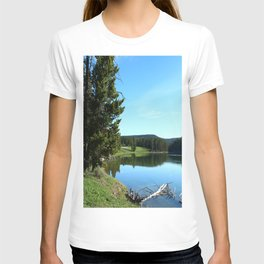 Peaceful Morning At Yellowstone River T-shirt