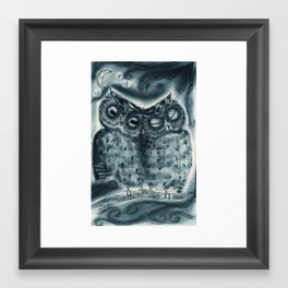 Night Owl Love Framed Art Print