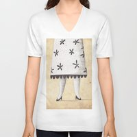 lady V-neck T-shirts featuring Lady by Zuriñe Aguirre Illustration