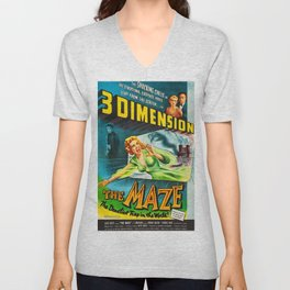 The Maze 1953 - Vintage Film Poster Unisex V-Neck