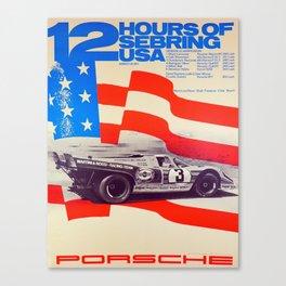 Vintage USA Racing Poster Canvas Print