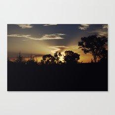 Australian Sunset photo Canvas Print