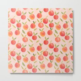 Peaches gouache painting Metal Print