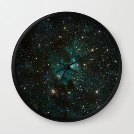 Cave Nebula Wall Clock