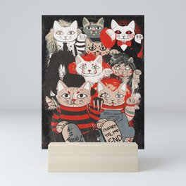 Horror Maneki Neko Vintage Gang Halloween Party 2019 T-Shirt Mini Art Print