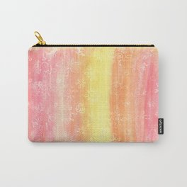 Sunset Floral Doodles Carry-All Pouch