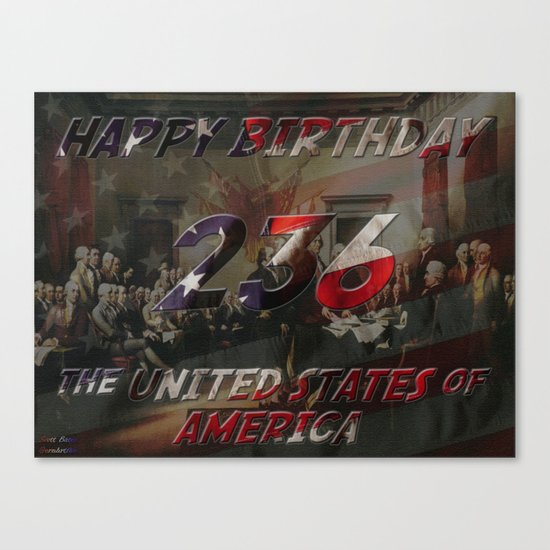 236 Years Canvas Print