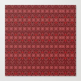 Antiallergenic Hand Knitted Red Winter Wool Pattern -Mix & Match with Simplicty of life Canvas Print