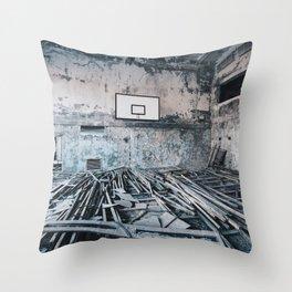 Chernobyl basketball court Throw Pillow