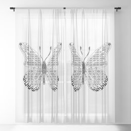 madame butterfly ecopop Sheer Curtain