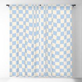Check II - Baby Blue Twist — Checkerboard Print Blackout Curtain