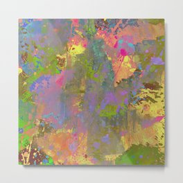 Messy Art II - Abstract, pastel coloured artwork in a random, chaotic, messy style Metal Print