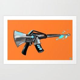 M16 Digital Gun Painting Art Print