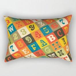 VINTAGE ALPHABET Rectangular Pillow